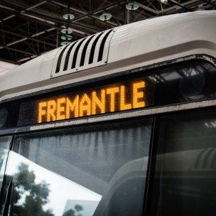 Frontal del tren de la línia que va a Fremantle