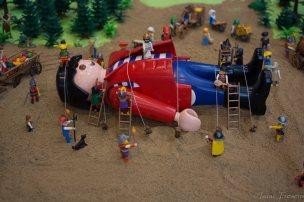 Detall d'una escena dels Viatges de Gulliver